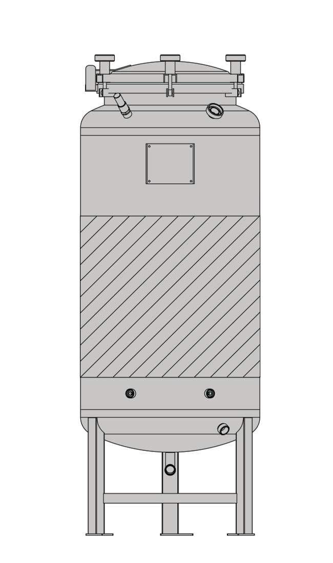 бак-ферментер SPEIDEL FD-1.2B под давлением 625л _3