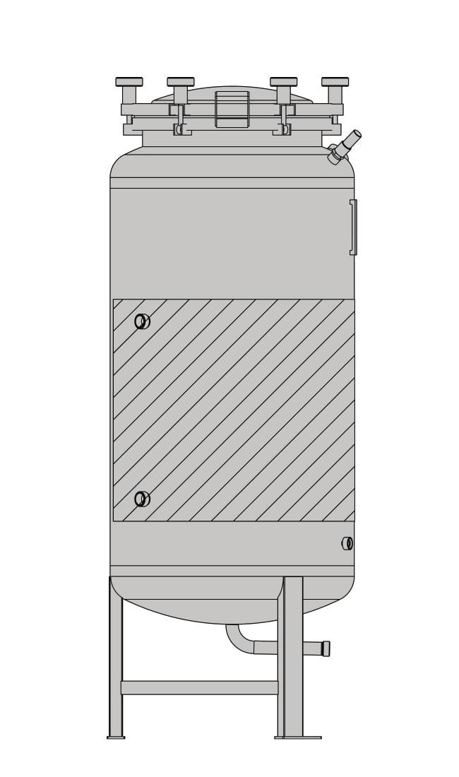 бак-ферментер SPEIDEL FD-1.2B под давлением 625л _4