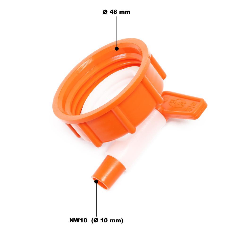 кран сливной SPEIDEL 10 мм для пластиковых баков-ферментеров _2